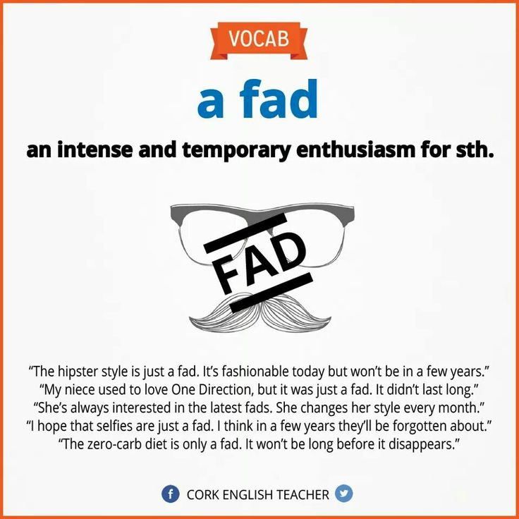 Fad - slang -         Repinned by Chesapeake College Adult Ed. We offer free classes on the Eastern Shore of MD to help you earn your GED - H.S. Diploma or Learn English (ESL) .   For GED classes contact Danielle Thomas 410-829-6043 dthomas@chesapeake.edu  For ESL classes contact Karen Luceti - 410-443-1163  Kluceti@chesapeake.edu .  www.chesapeake.edu