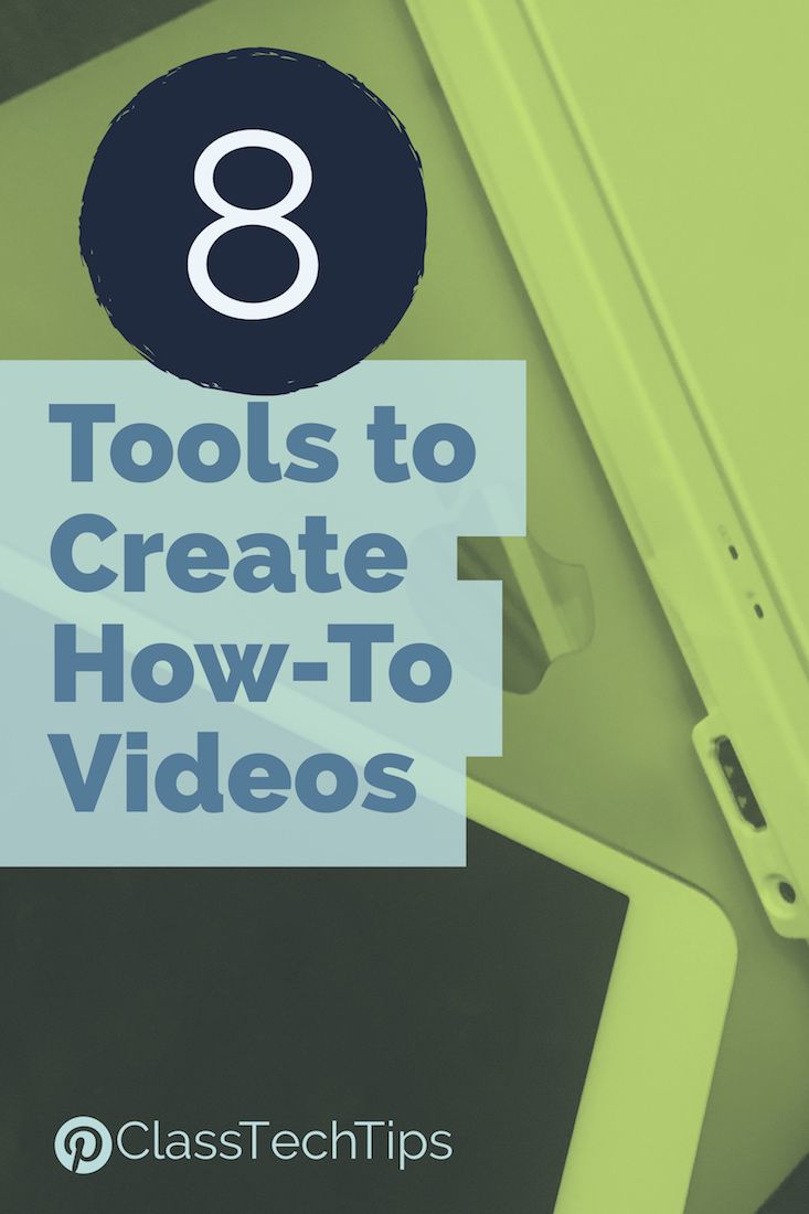 Students can demonstrate what they've learned and share their knowledge with others and create how-to videos in any subject area!