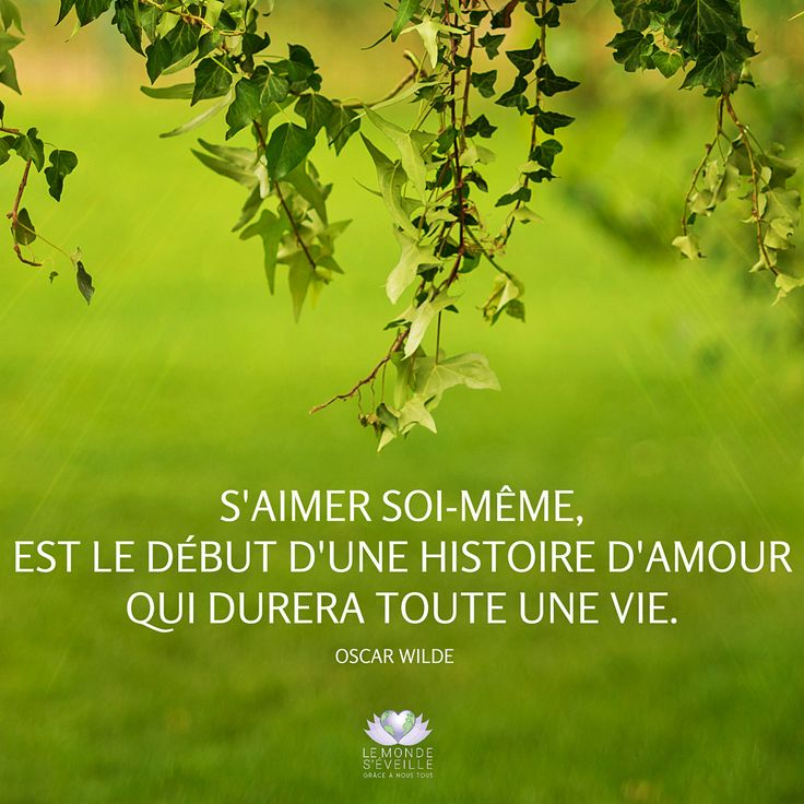 S'aimer soi-même, est le début d'une histoire d'amour qui durera toute une vie <3 To love oneself is the beginning of a lifelong romance <3 www.lemondeseveille.com