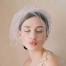 魅力的なもの- 層販売のためのブライダルベールでキラキラゴージャスなビーズl893結婚式のヘアアクセサリー(China (Mainland))