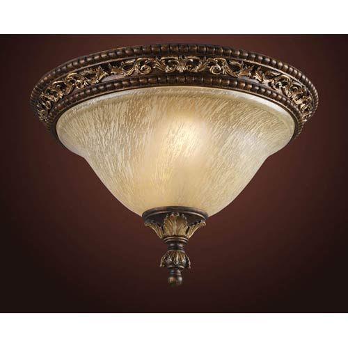 Trump Home Regency Burnt Bronze Flush Mount Ceiling Light