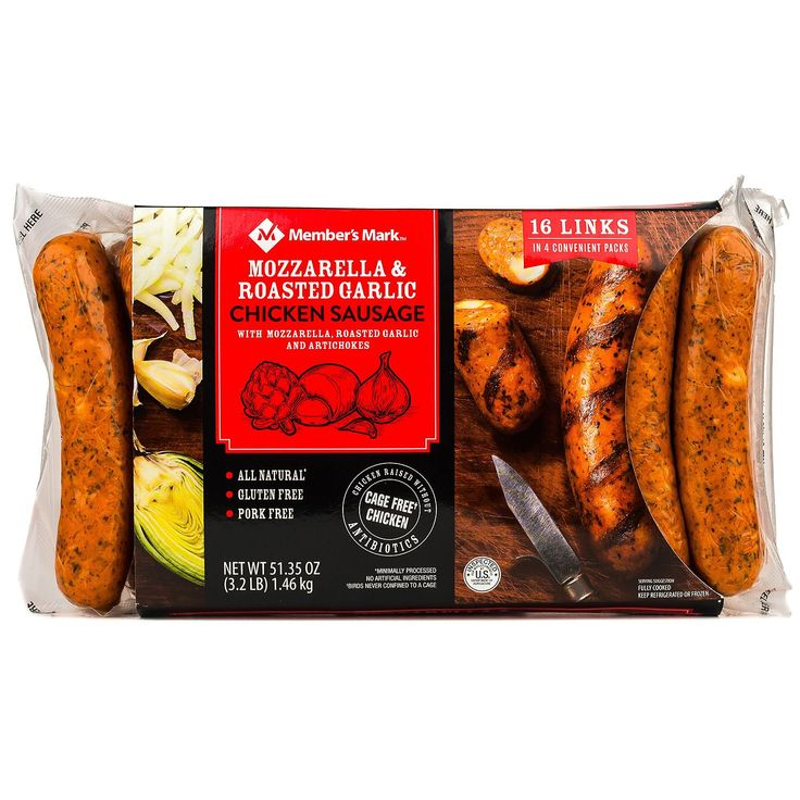 Members mark mozzarella and roasted garlic chicken