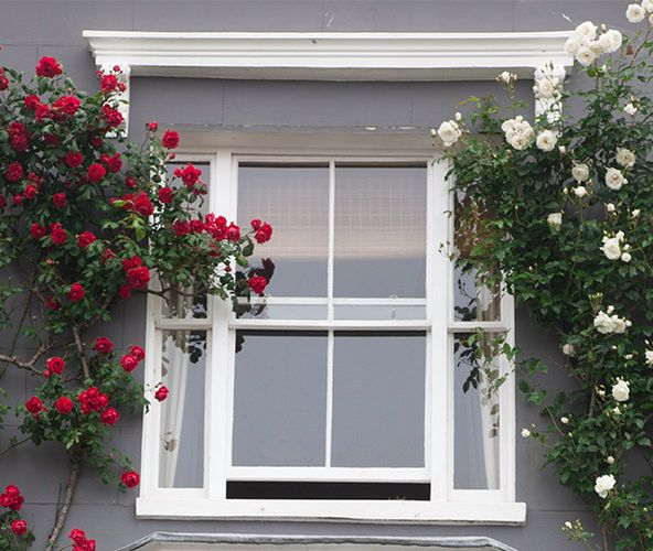 Beautiful sash window restored to its original glory by the professionals