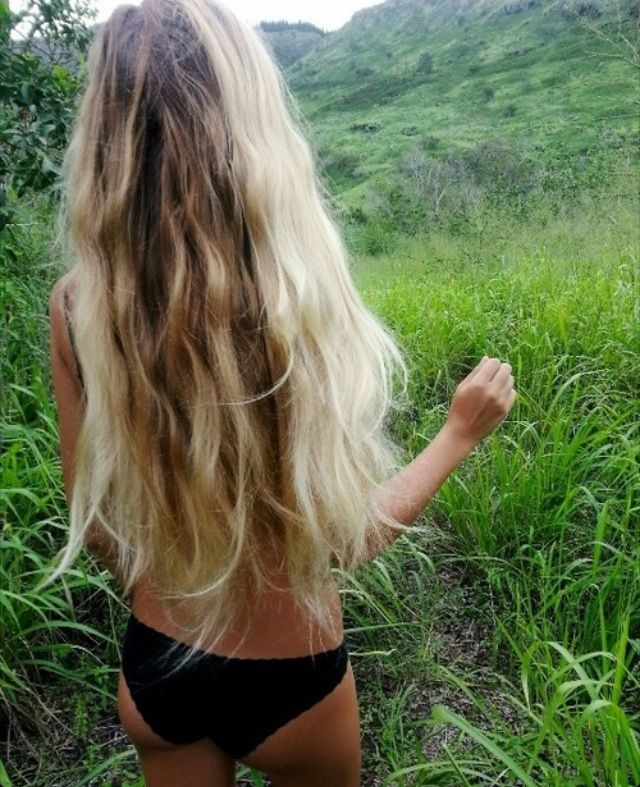 Wild and free - long hippie hair - loveeee