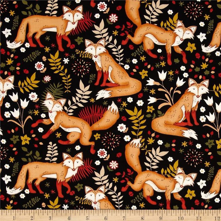 New to yoursewingbasket on etsy sly as a fox fox print for Fox print fabric