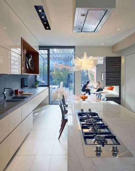 Diseño de cocina moderna lineal