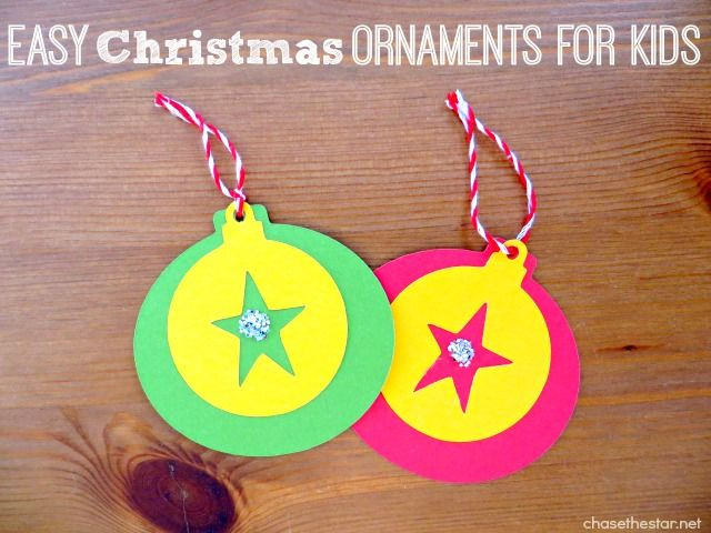 Easy Christmas Ornaments for kids! Make some for the whole class! (scheduled via http://www.tailwindapp.com?utm_source=pinterest&utm_medium=twpin&utm_content=post114035893&utm_campaign=scheduler_attribution)