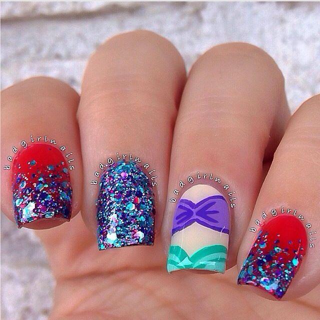 Badgirlnails the little mermaid nails