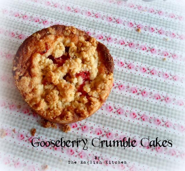 Gooseberry Crumble Cakes | Afternoon Tea | Pinterest
