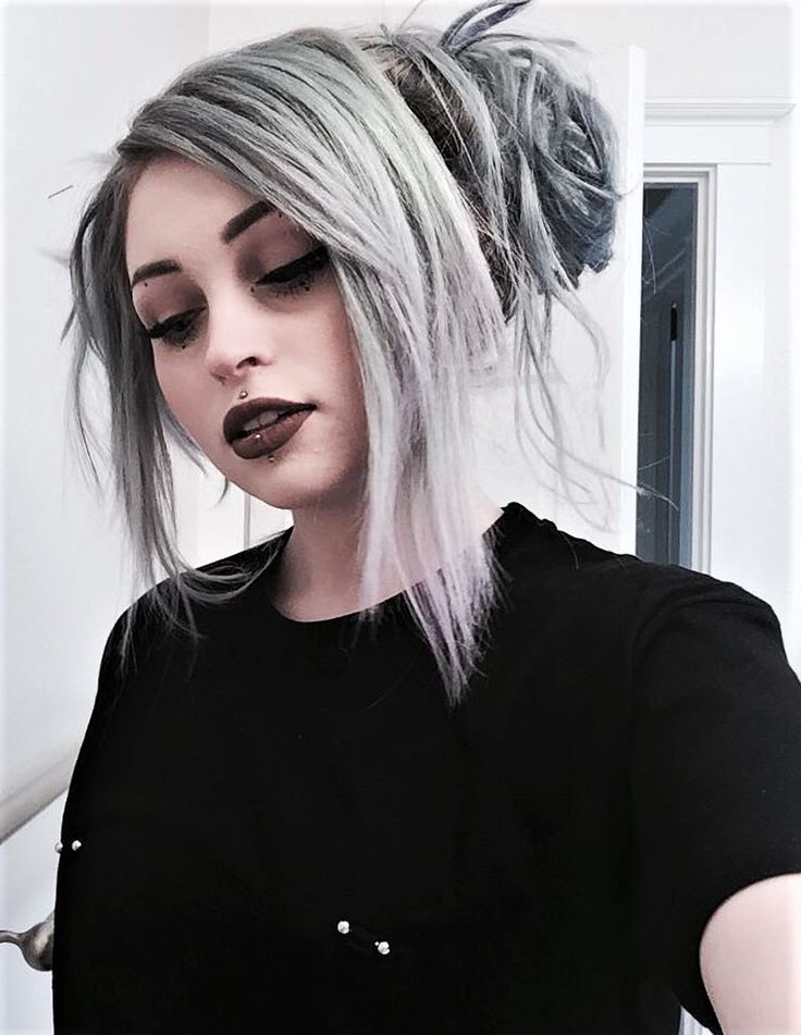 Sterling silver semi-permanent hair dye color by j0uzai - #haircolor #hairdye #hairstyle