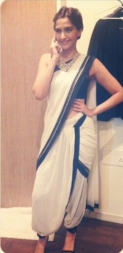 Sonam kapoor dhoti style saree #indian #fashion