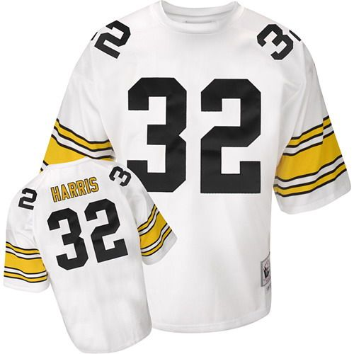 NFL Reebok Pittsburgh Steelers  32 Franco Harris White Authentic Jersey   109.99 a56669659