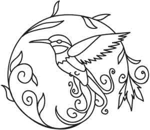 Hummingbirdy design (UTH1733) from UrbanThreads.com