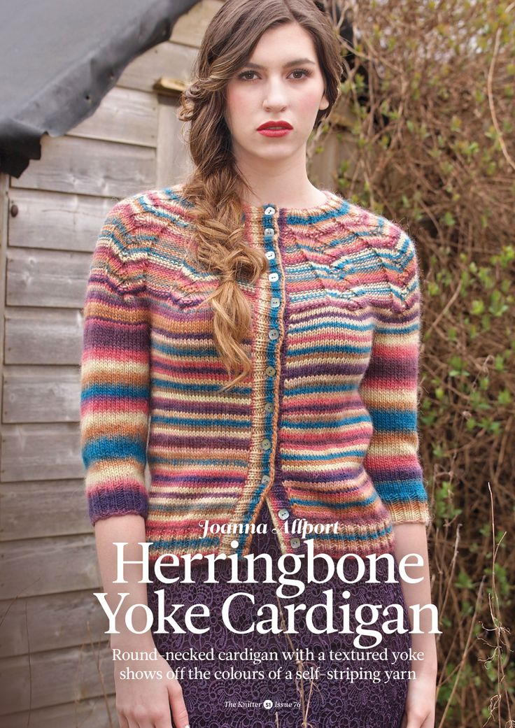 Herringbone Yoke Cardigan by Joanna Allport. Read more about it on my blog: http://knittingkonrad.com/2014/09/16/the-knitter-issue-76-a-review/