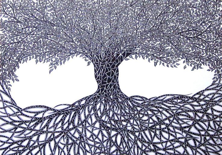 Kresby černou tuží :: Kateřina Morkesová