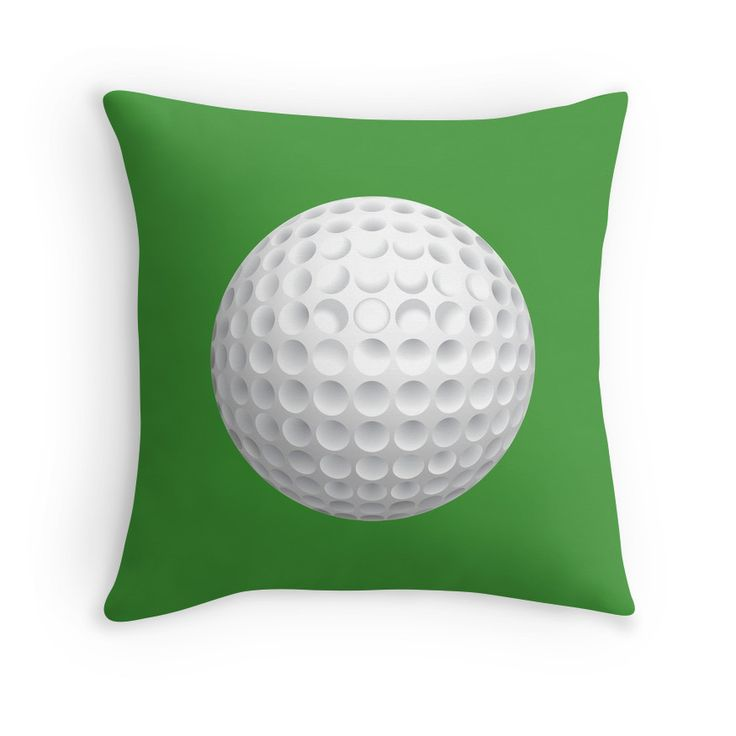 If you love playing and watching Golf, then you will love this Golf Ball throw pillow.