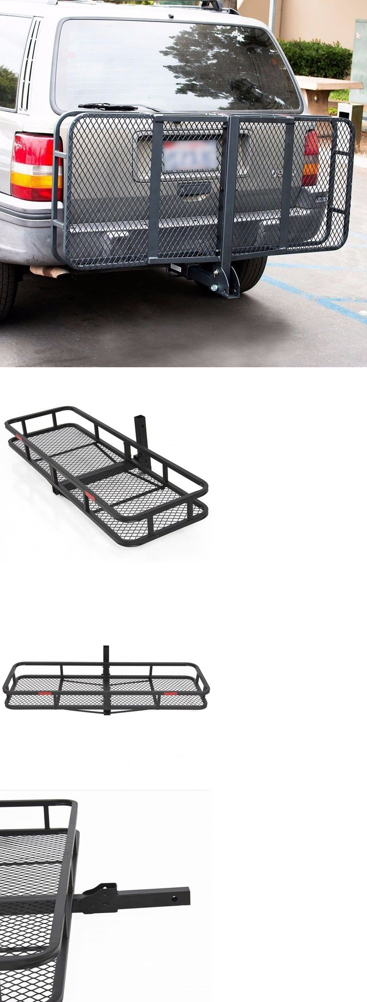 Racks and carriers 21231 car luggage back carrier hitch cargo truck trailer suv holder basket