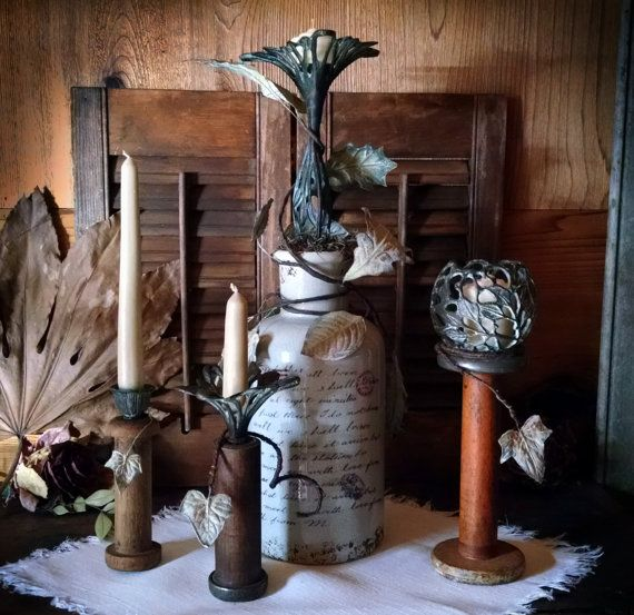 A Gorgeous Eclectic Candle Ensemble with by journeybydesign