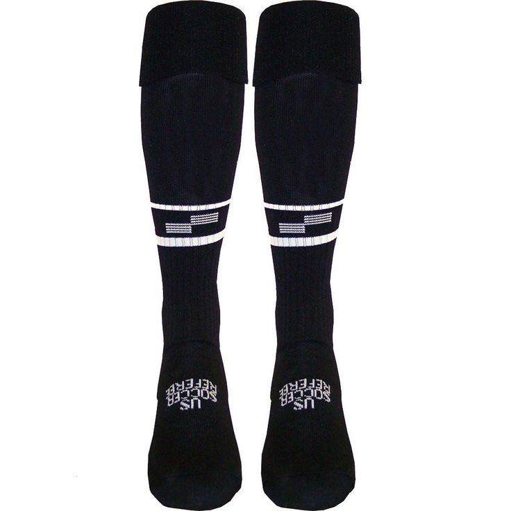 USSF Two Stripe Ref Sock Soccer Referee Gear