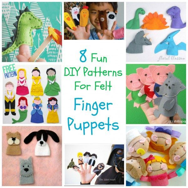 8 Fun DIY Patterns For Felt Finger Puppets (Craft Gossip)