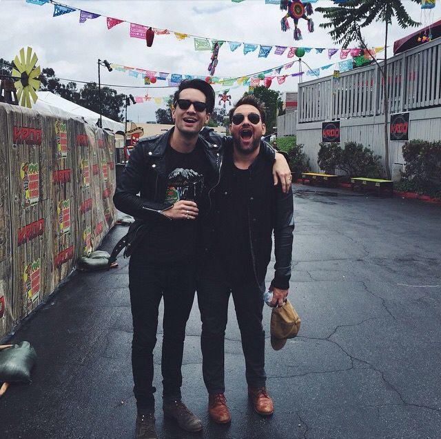 Brendon And Kenny At Kroq Weenie Roast 2015