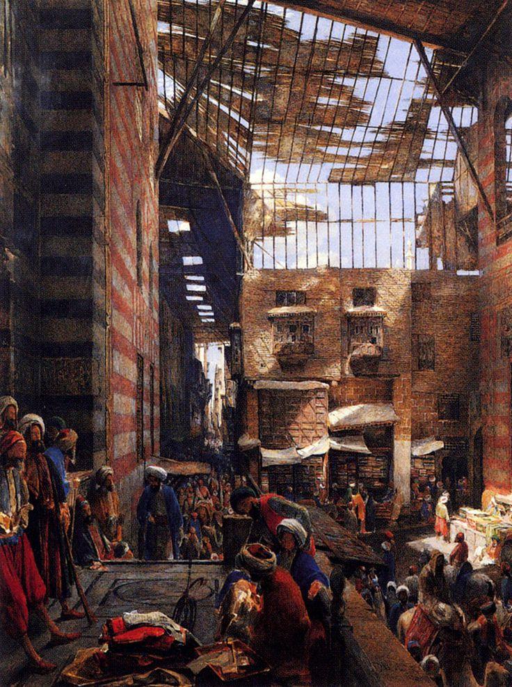 John Frederick Lewis - View of the Street, Cairo