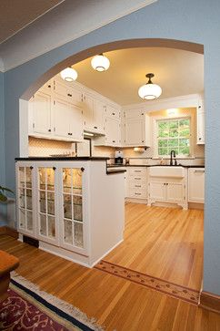 cabinets and schoolhouse lights 1940 Kitchen Design Ideas, Pictures, Remodel and Decor