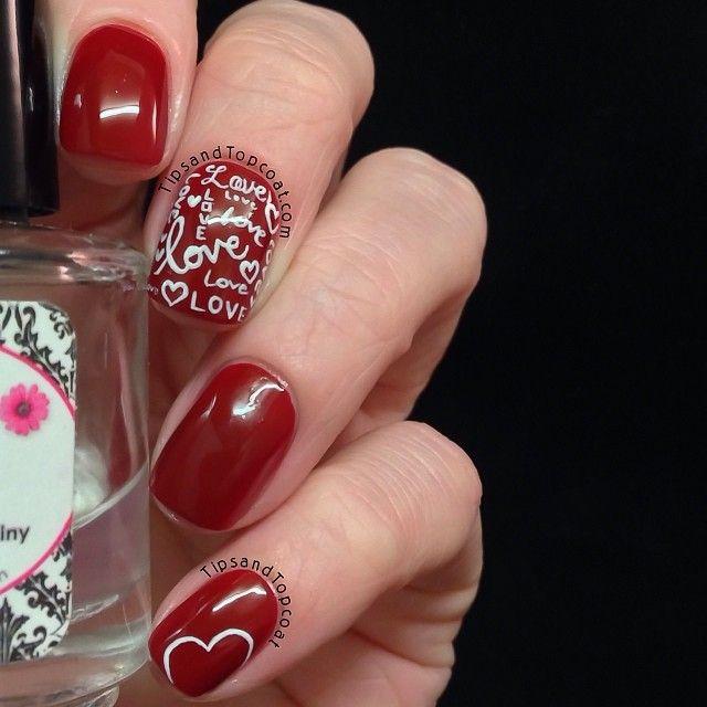 valentine by tipsandtopcoat  #nail #nails #nailart