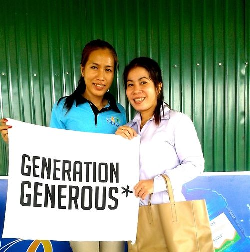 They volonteer on clean water every day in #Cambodia. What about you? #GenerationGenerous