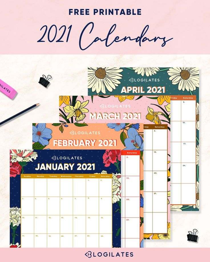 Your FREE 2021 Printable Calendars are HERE! - Blogilates ...