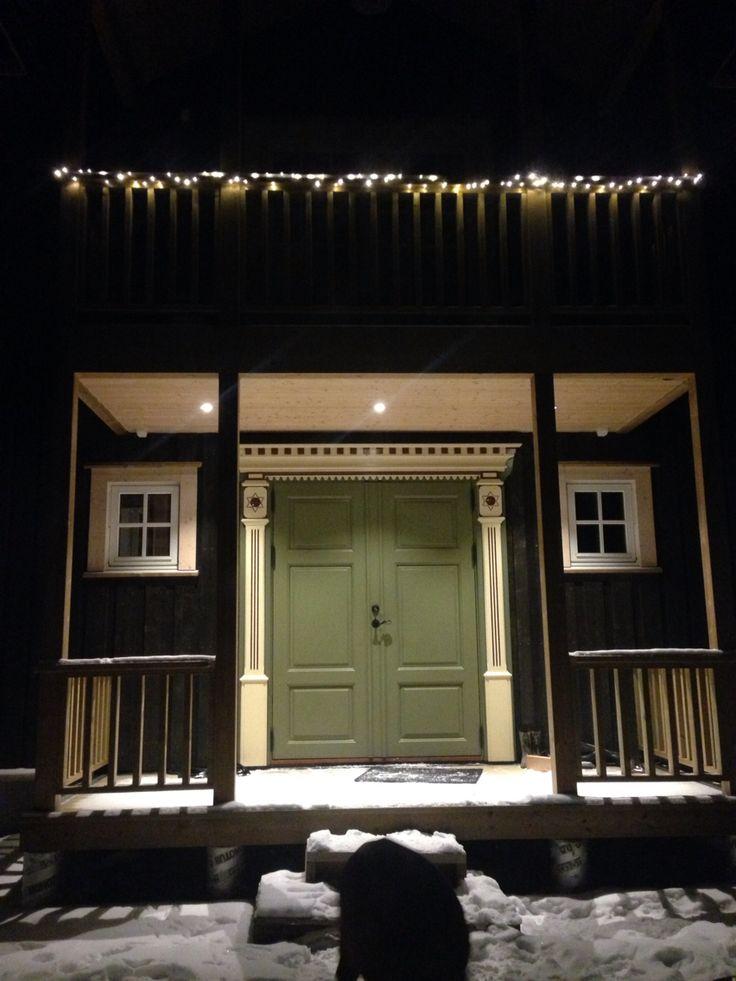 Our frontdoor from Rennebu, Norway.