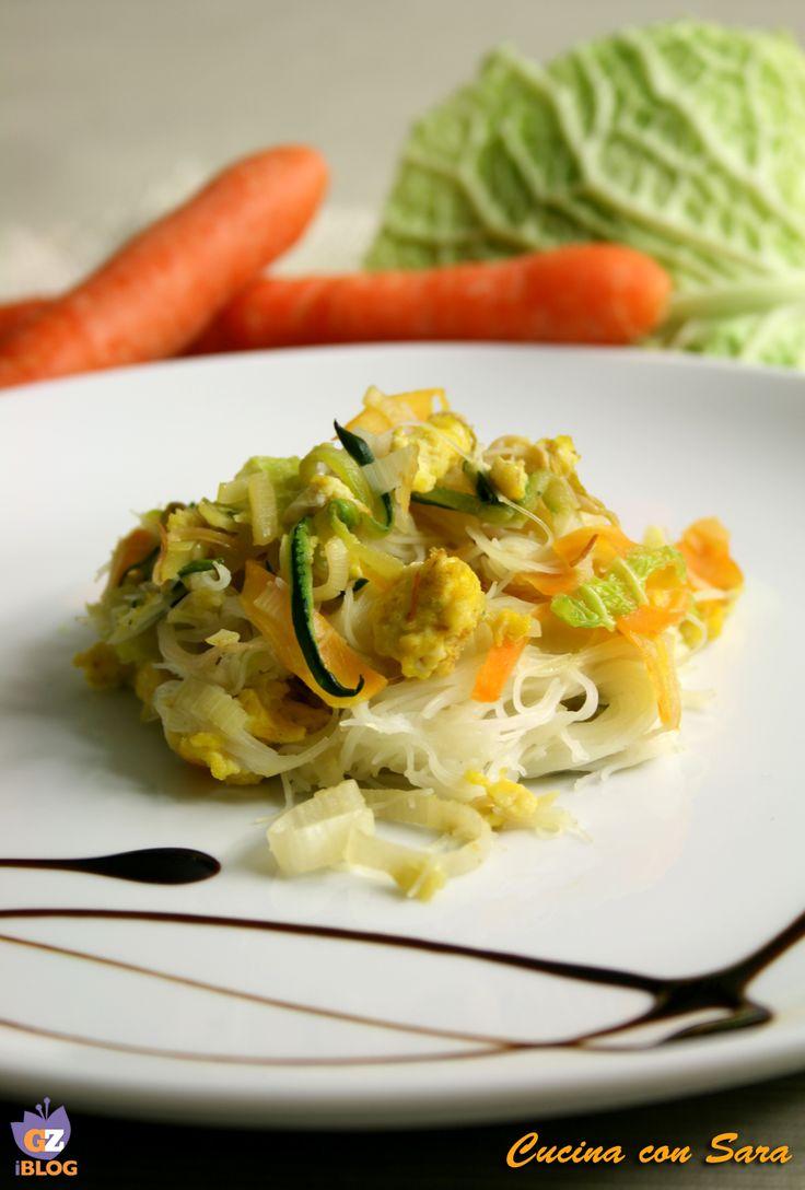 Spaghetti di riso vegetariani - ricetta cinese
