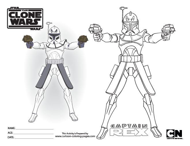 Star Wars Captain Rex Coloring Pages | Super coloring ...