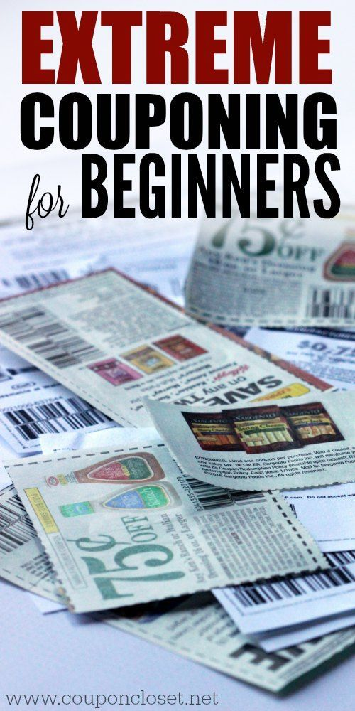 Extreme Couponing for Beginners - Everything you need to know to use coupons correctly and effectively to save money.