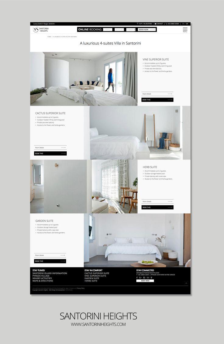 F- Design Website for Santorini Heights at www.santoriniheig.... #web #website #santorini