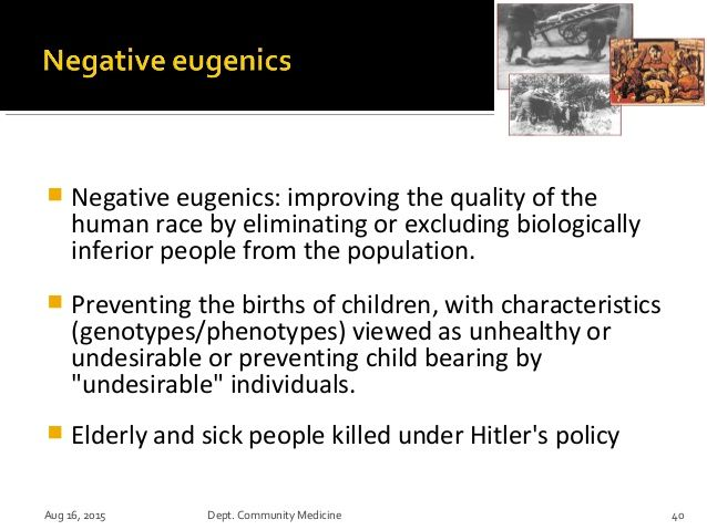 """Eugenics"" is a term coined in the latter part of the 19th century by Englishmen Francis Galton to describe the ""science"" of bettering human stock and the elimination of unwanted characteristics... and individuals. Francis Galton was initiated into Freemasonry on February 5, 1844, into the Scientific Lodge No. 105 of the Ancient, Free and Accepted Masons, held at the Red Lion Hotel, Cambridge, and on March 12, 1845, he was registered on the books of the Grand Lodge, London."