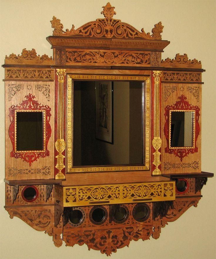 Miroir victorien - Plans pour découpage en bois