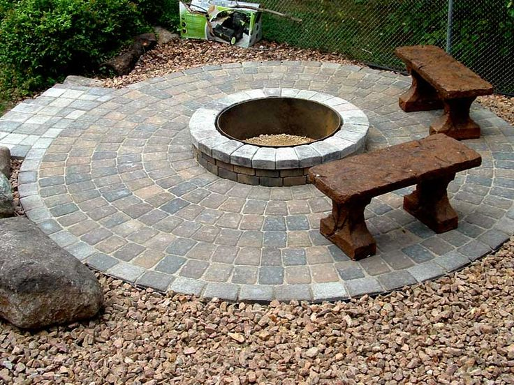 1000 ideas about brick fire pits on pinterest build a for Brick fire pit construction