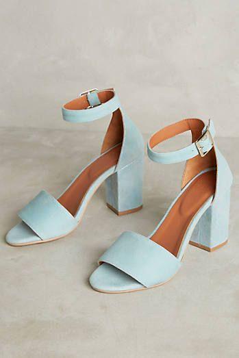 Tangerine Iridescent Heeled Sandals