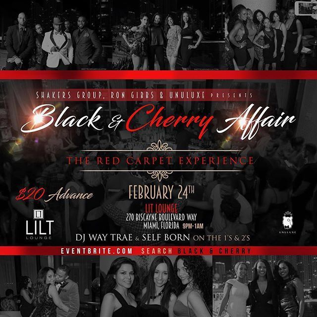 Tonight we paint the town red! Join @shakersgroup for tonight Black & Cherry event - check them out for more info