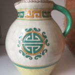 Unidentified Jug Stamped Arabesque by Charlotte Rhead