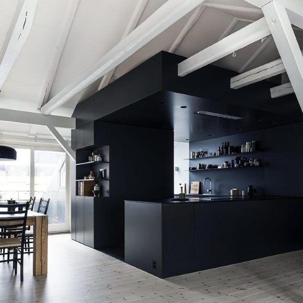 Top 50 Best Black Kitchen Cabinet Ideas Dark Cabinetry Designs Black Kitchens Cabinetry Design Black Kitchen Cabinets