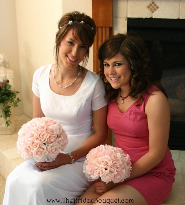 TheBridesBouquet.com - Pink Silk Rose Hand Tie (2 Dozen Roses) - Bridal Wedding Bouquet, $29.99 (http://www.thebridesbouquet.com/pink-silk-rose-hand-tie-2-dozen-roses-bridal-wedding-bouquet/)