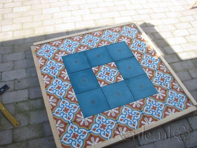 Cement Tiles Furniture - Amarillo 01 - Egal Azule S34 - Project van Designtegels.nl