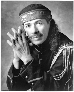 - Carlos Santana - Born in 1947 - Mexican and American rock guitarist.  Became famous in the late 1960's with his band, Santana, which pioneered rock, Latin music and jazz fusion. -