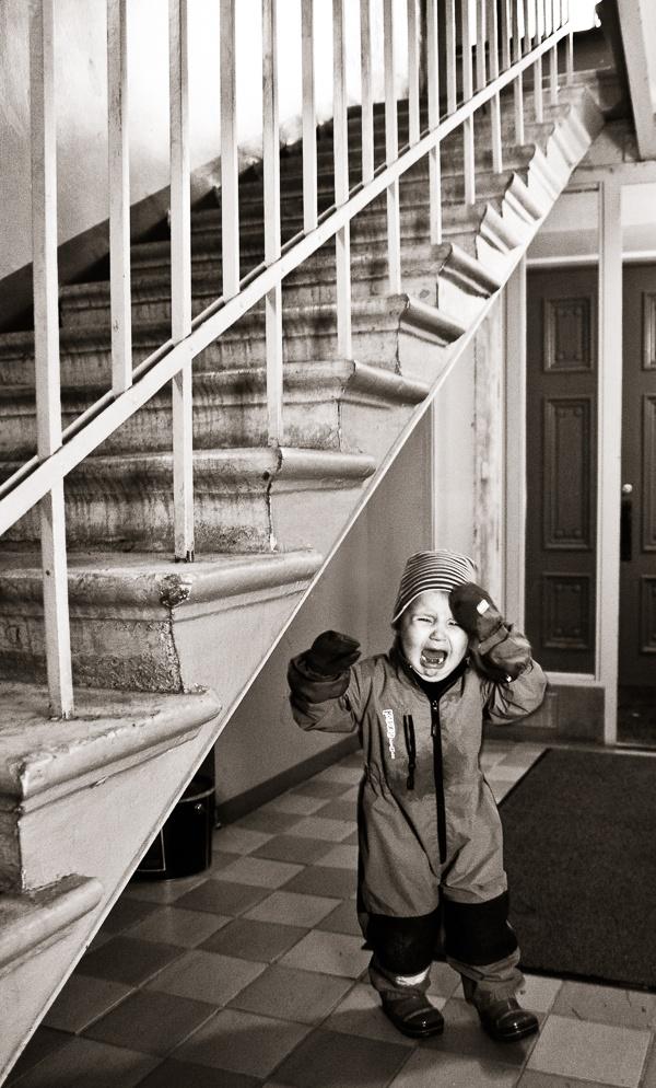 The staircase hit me! © Otso Kaijaluoto
