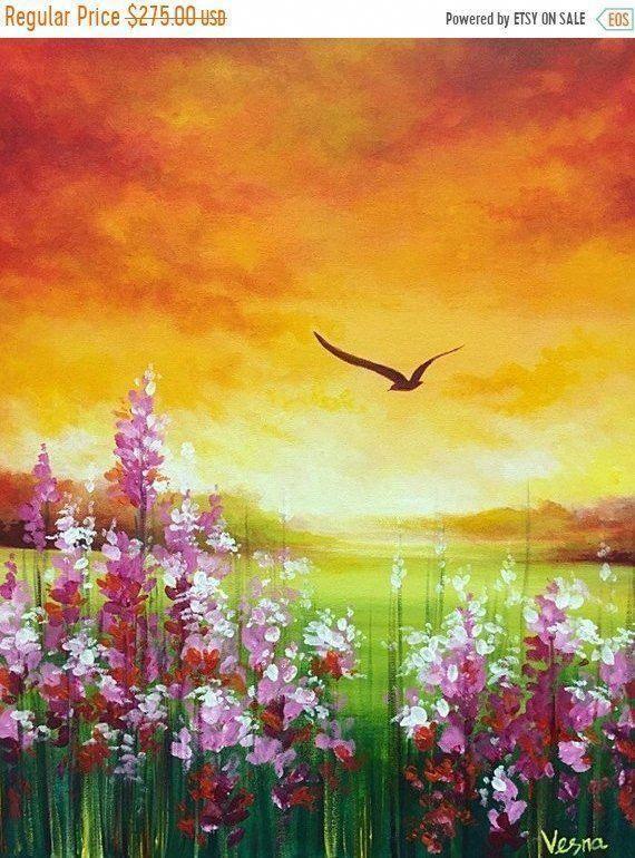 Just Enjoying It Nature Art Painting Landscape Paintings Acrylic Nature Paintings