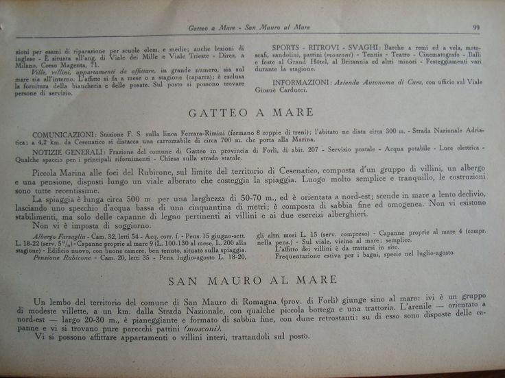 #Gatteomare e #Sanmauromare sulla guida d'Italia del Touring Club1933 - @turismoer