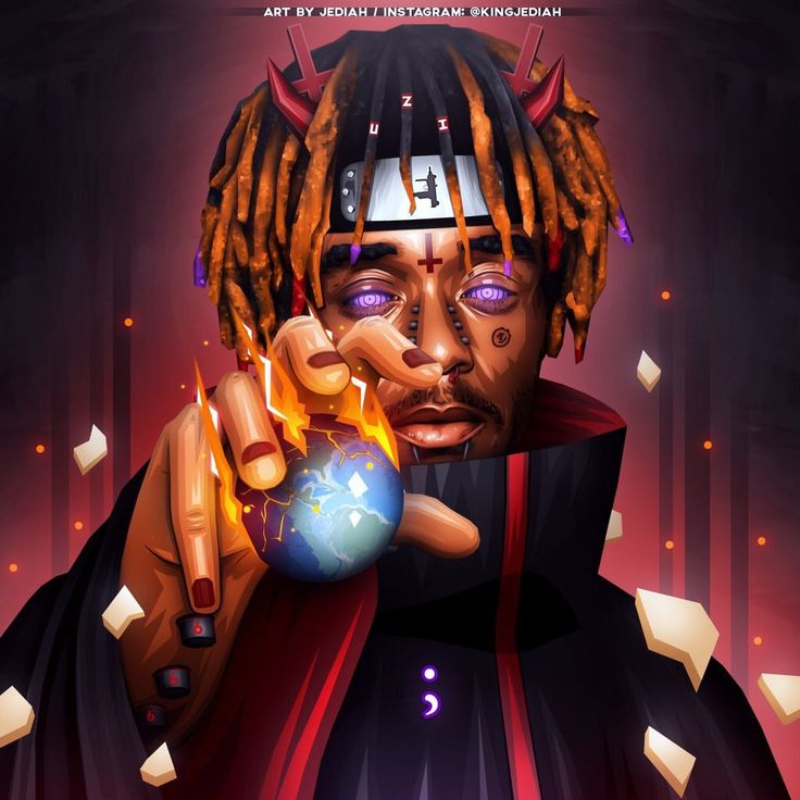 """Lil Uzi Vert ""Pain"" Naruto & Devil Themed Artwork Designed by Me / RTs & Likes Appreciated @LILUZIVERT"""