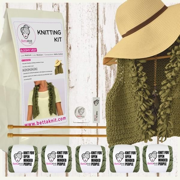 Bettaknit BLOOMY VEST - Knitting Kit